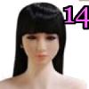Wig 14: Long Black Fringe